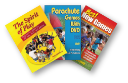 Group Games, Cooperative Play and Parachute Games Books